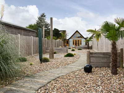 Landscaped coastal garden with a seaside theme | The Beach House, Holland-on-Sea