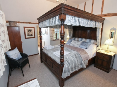 Four Poster bedroom | The Orchard & Old Bakery - The Orchard, Langham, nr. Colchester