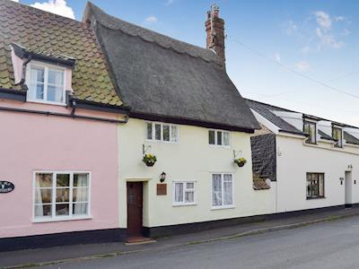 Semi-detached, traditionally styled, thatched property | Old Maltsters Arms Cottage, Pulham St Mary, near Diss