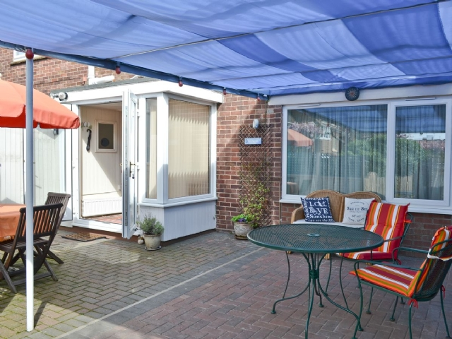 Sitting-out-area | Golden Mile Apartment, Great Yarmouth