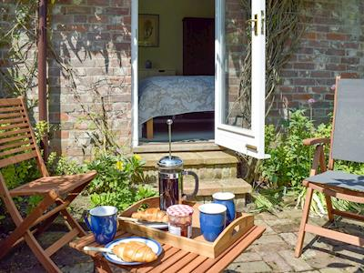 Ideal sitting out area | Marietta Cottage Apartment, Hickling, near Stalham