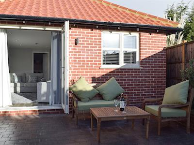 Sitting out area | Meadowside Lodge, Wrentham, near Southwold