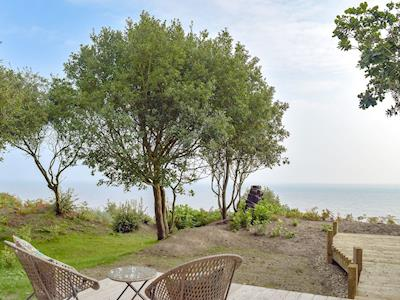 Delightful sea views from decking area | Beachwood, Corton, near Lowestoft