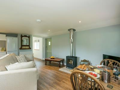 Spacious and warm open plan living area | Barn Owl Lodge, Shotesham St Mary, near Norwich