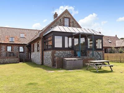 Traditional brick and flint barn converted into a beautiful holiday cottage | Sky Lark, Weybourne