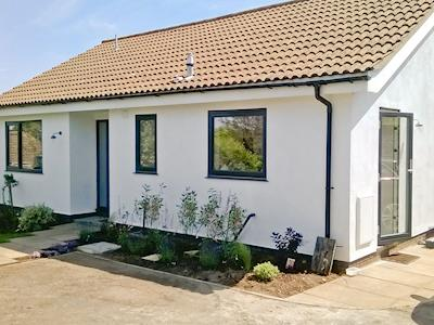 Neat exterior with private parking area | The Seashells, Brancaster Staithe, near Hunstanton