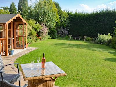 Attractive, rear, lawned garden | Heather House, Bakewell