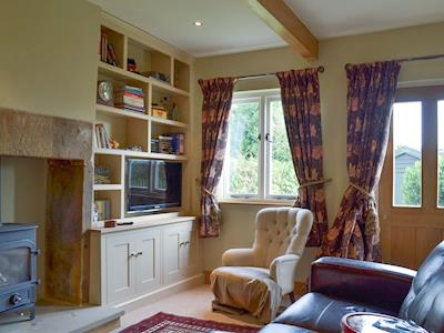 Charming living room with wood burner | Postern View, Turnditch, near Ashbourne