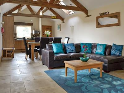 Spacious open-plan living space | Bramble Barn - Middle Huntingford Barns, Charfield, near Wotton-under-Edge