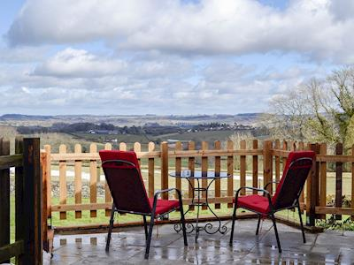 Wonderful far-reaching views over the surrounding countryside | Ruardean Studio - The Rock, Hillersland, near Coleford