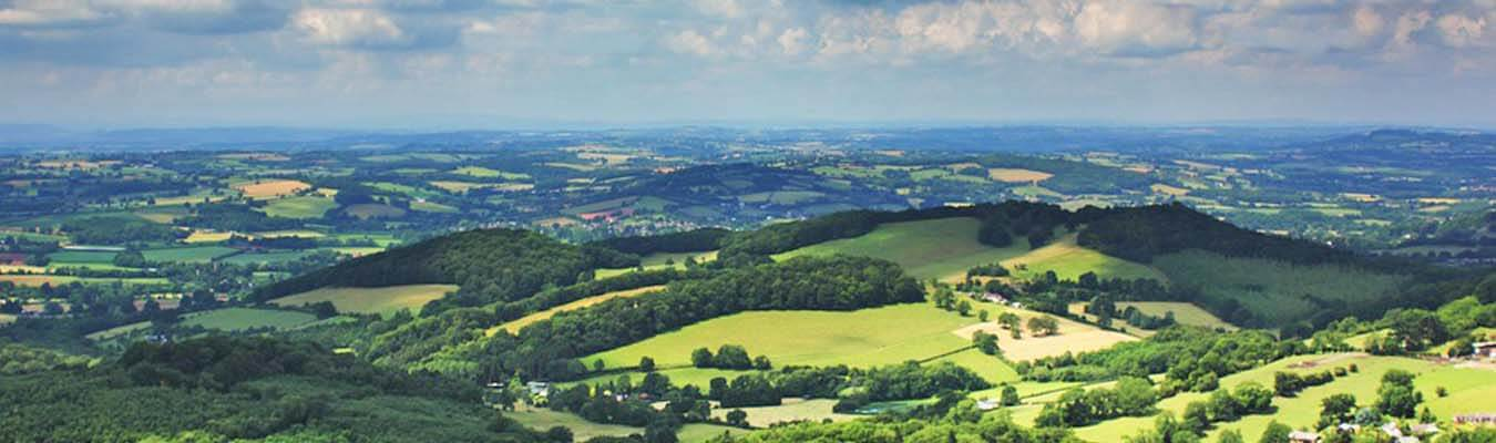 Malvern hills for walking and cycling holidays in Worcestershire
