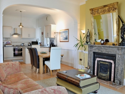 Open plan living/dining room/kitchen | Paradise Lodge, Alnmouth