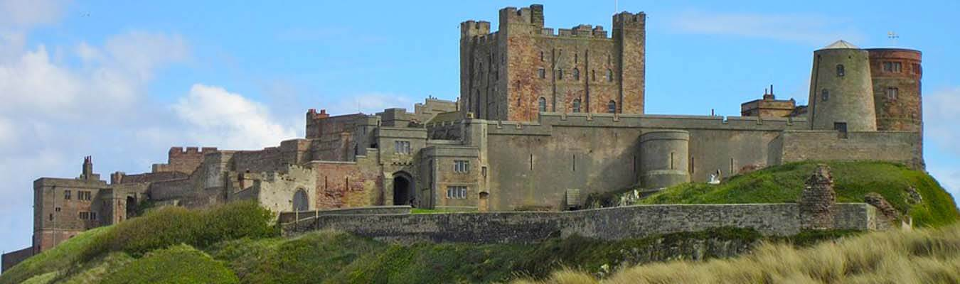 Bamburgh Castle Northumberland overlooking the sea