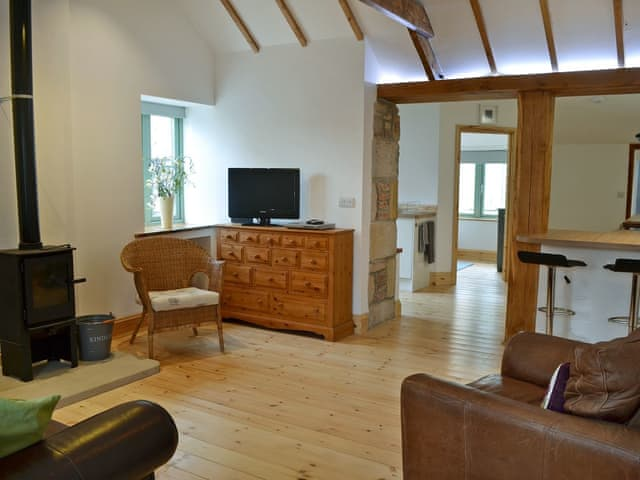Tastefully furnished living/dining room | Number Two The Neuk, Belford, near Wooler
