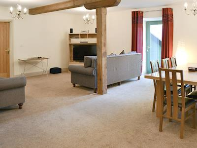 Open plan living space with character | The Gearings - Spindlestone Mill Apartments, Belford, near Bamburgh