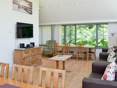Large, spacious living room/dining room | Wheel Rooms - Spindlestone Mill Apartments, Belford, near Bamburgh