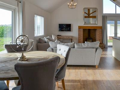 Charming open plan living space with lots of natural light | Seaspray, Beadnell, near Alnwick