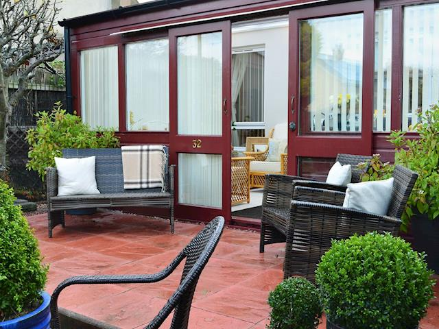 Relaxing patio with garden furniture | Rose Cottage, Norham, near Berwick-upon-Tweed