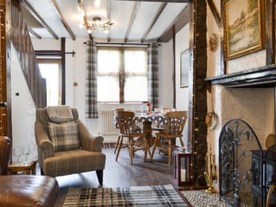 Characterful living and dining room | Bishop's Cottage, Bishop Auckland, near Durham