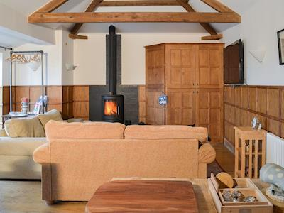 Cosy and comfortable living space with wood burner | Grace's Retreat, Hurworth-on-Tees, near Darlington