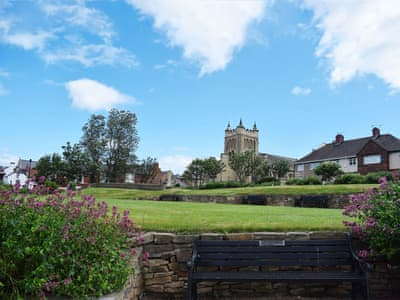 The magnificent grade I listed St Hilda's from the local park | Church View, Hartlepool