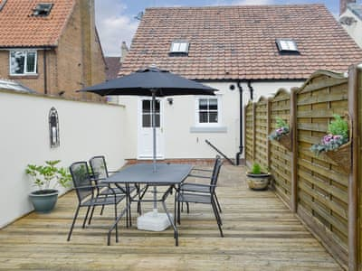 Enclosed garden area with outdoor furniture | The Cottage - Dun Cow Cottages, Bishop Middleham, near Durham