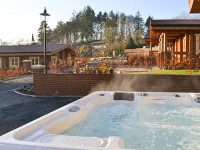 Luxurious hot tub with views over the surroundings | Vindomora County Lodges - St Ebba Lodge - Vindomora County Lodges , Ebchester, near Consett