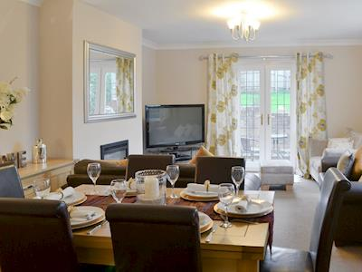 Comfortable living/ dining room | The Angler's Cottage, Sheepwash, near Morpeth