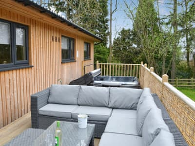 Holiday Lodge with a lovely private hot tub | Barn Owl Lodge, Otterburn, near Bellingham