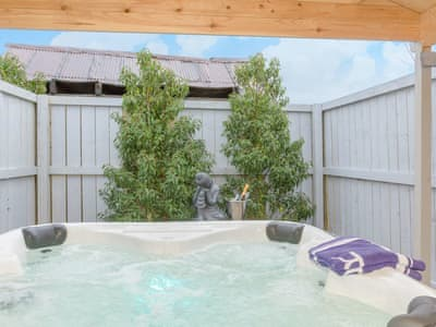 Relaxing hot tub | The Old Miners Bath House - Burnside Cottages, Rookhope, near Stanhope