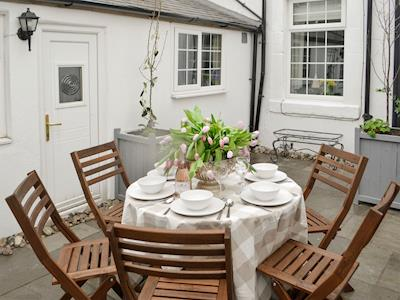 Rear courtyard with outdoor furniture | Number 36, Amble