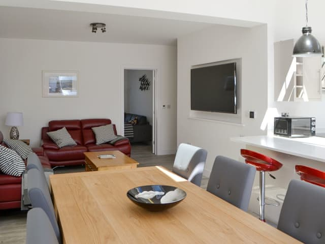 Well presented open plan living space | ROK House, Amble
