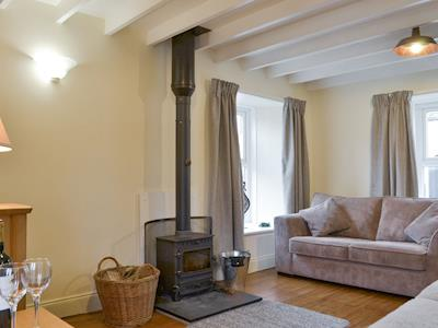 Welcoming living room with wood burner | The Barn, Garrigill, near Alston