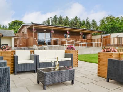 Inviting holiday home with patio area | Blake Fell Lodge - Gatra Farm Lodges, Lamplugh, near Cockermouth