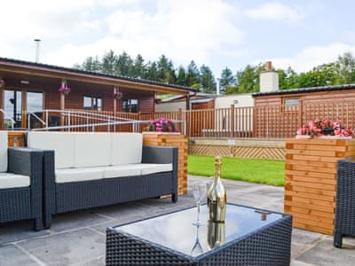 Inviting holiday home with patio area | Knock Murton Lodge - Gatra Farm Lodges, Lamplugh, near Cockermouth
