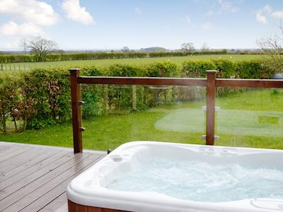 Hot Tub | Pheasant Lodge, Longtown, near Carlisle