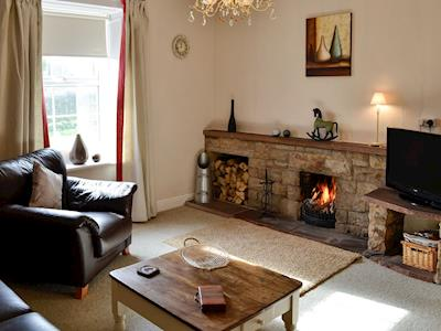 Living room with real fire | Town Head Farm, West Hall, near Brampton