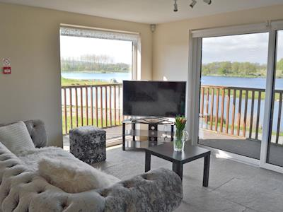 Great views from the comfort of the living room | Clear Water Lodge, Borwick, near Carnforth