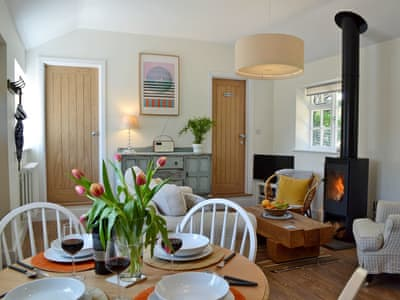 Stylishly furnished open plan living space | Adversane Cottage, Adversane, near Billingshurst