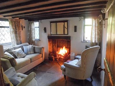 Living room with open fire | Point Cottage, Ticehurst, near Tunbridge Wells