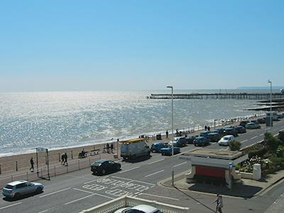 View towards Hastings Pier | The Queens Apartment, Hastings