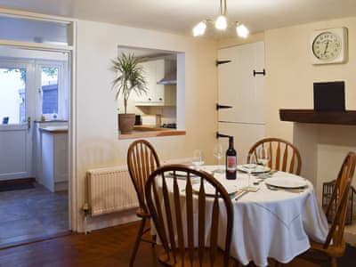 Dining room with adjacent kitchen | Bee Cottage, Sandown