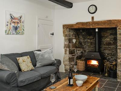 Cosy living room with wood burner | Ramblers Rest, Lapford, near Crediton
