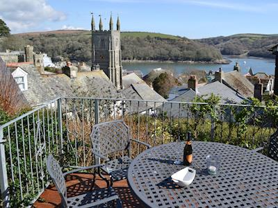 Outdoor seating with stunning views | Clearview Cottage, Fowey