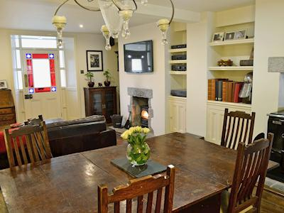 Spacious living room/dining room full of character | Coastguards Cottage - Coastguards Getaways, Gwithian, near Hayle