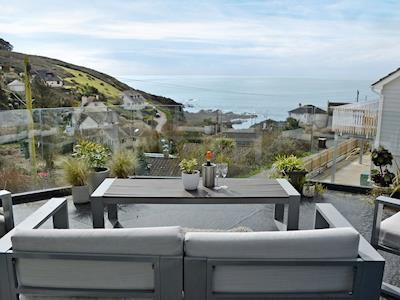 Impressive balcony with fantastic sea views | Seaglass, Heybrook Bay, near Plymouth