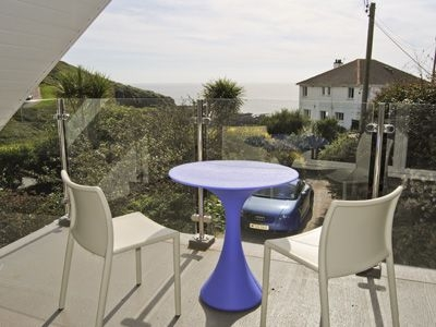 Sitting-out-area | The Ravine, Heybrook Bay, nr. Plymouth