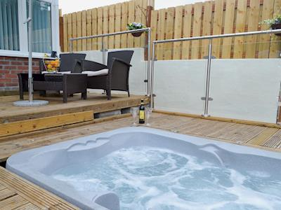 Private hot tub on the decking | Woodland View, Derriford, near Plymouth