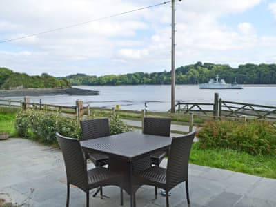 Tranquil sitting-out-area with views over the River Lynher | Curlew House, Forder, near Saltash