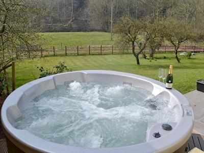 Hot tub with wonderful views | The Granary - Fulford Farm Cottages, Lurley, near Tiverton